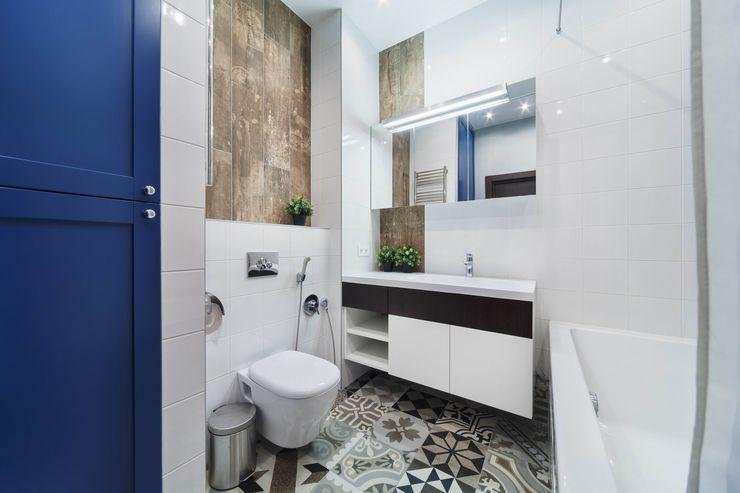 Реализованный интерьер квартиры на Шейнкмана,111 Дизайн Студия 33 Ванная комната в стиле модерн