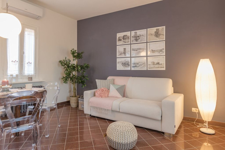 Anna Leone Architetto Home Stager Salas de estar minimalistas