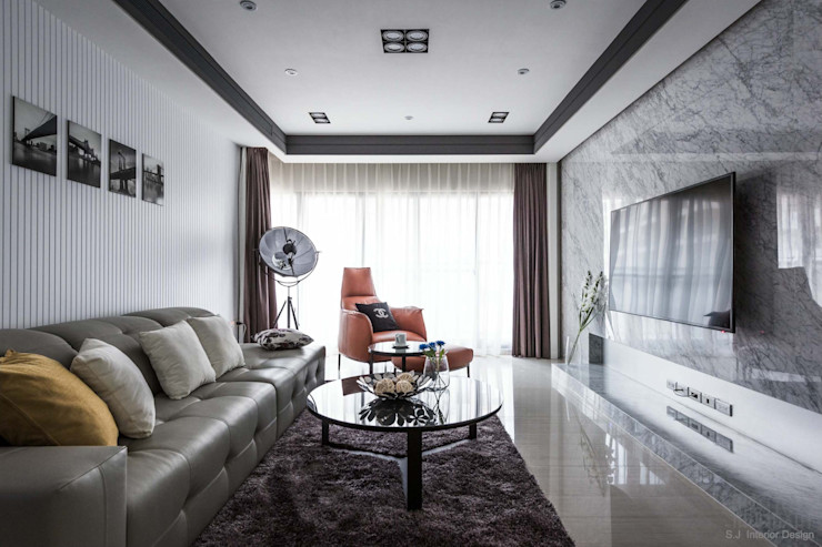 簡.溫 湘頡設計 Modern Living Room