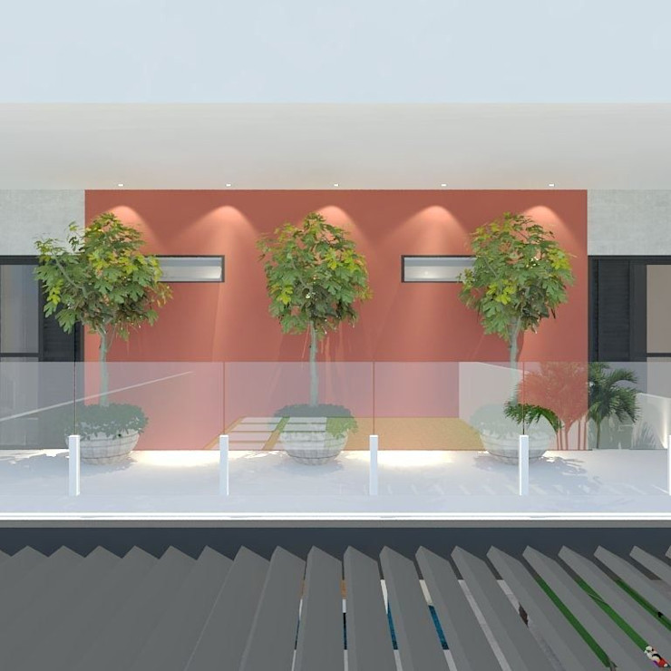 ITOARQUITETURA 現代風玄關、走廊與階梯