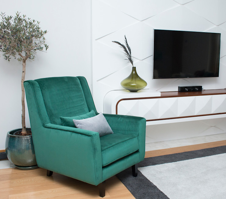 ORCHIDS LOFT by Alexandra Pedro モダンデザインの リビング 無垢材 緑