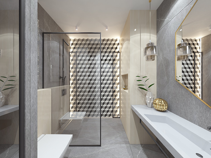 Mysterious Студия дизайна и визуализации интерьеров Ивановой Натальи. Ванная комната в стиле модерн