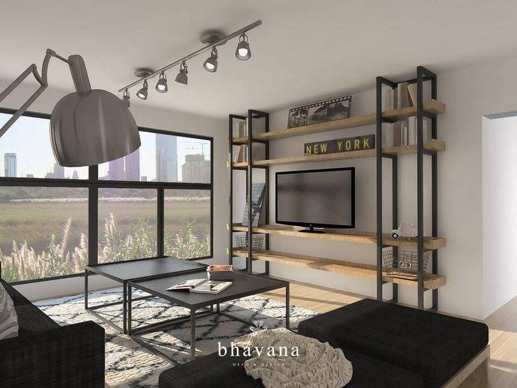 Bhavana Industrial style living room