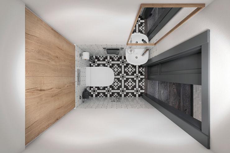 Квартира 55 кв.м. в старом доме на Кожуховской в скандинавском стиле Студия архитектуры и дизайна Дарьи Ельниковой Ванная комната в скандинавском стиле