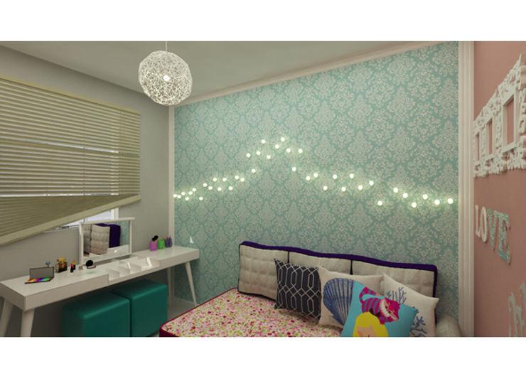 Plano A Studio Industrial style bedroom Green