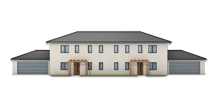 renderslot Multi-Family house Stone White