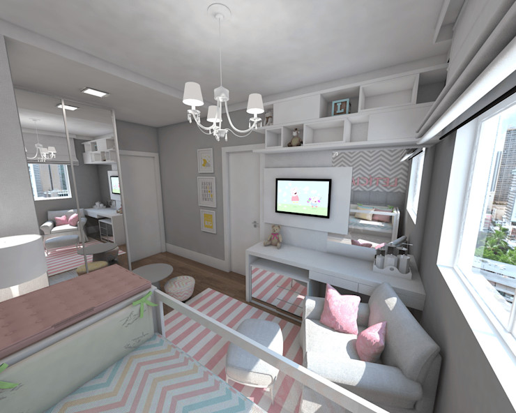 Skala Arquitetura e Engenharia Baby room Pink
