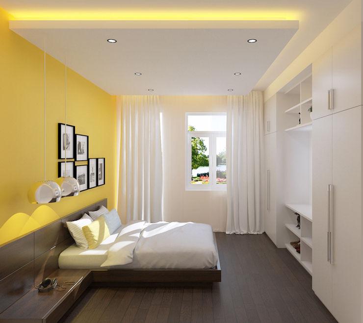 Công ty TNHH Xây Dựng TM – DV Song Phát Modern style bedroom Yellow