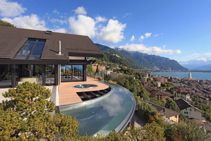 LAKE GENEVA CH DAVINCI HAUS GmbH & Co. KG Modern pool