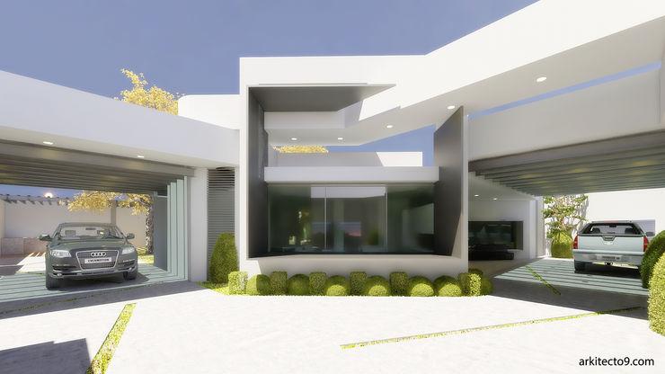 arquitecto9.com Окремий будинок Бетон Білий