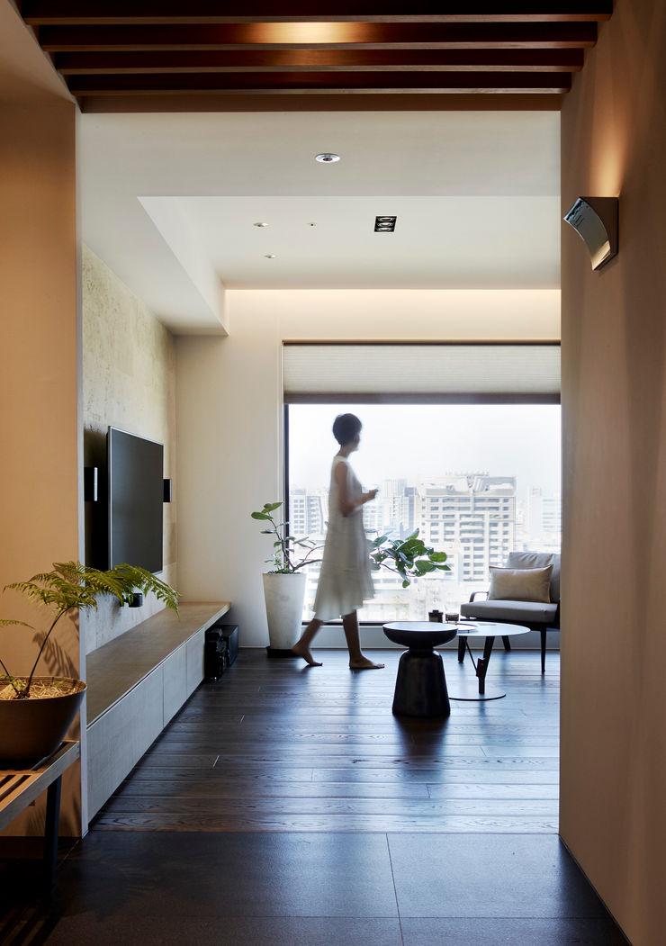 玄關 樸十設計有限公司 SIMPURE Design Modern living room