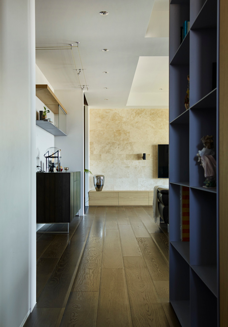 廊道 樸十設計有限公司 SIMPURE Design Modern corridor, hallway & stairs