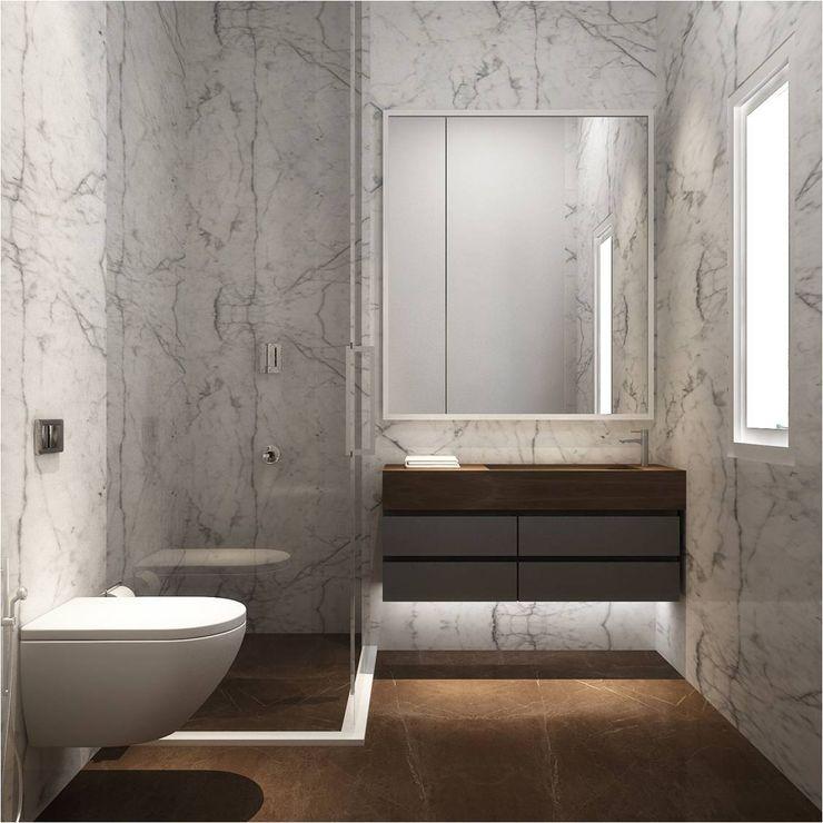 Master bathroom Ashleys Minimalist style bathroom