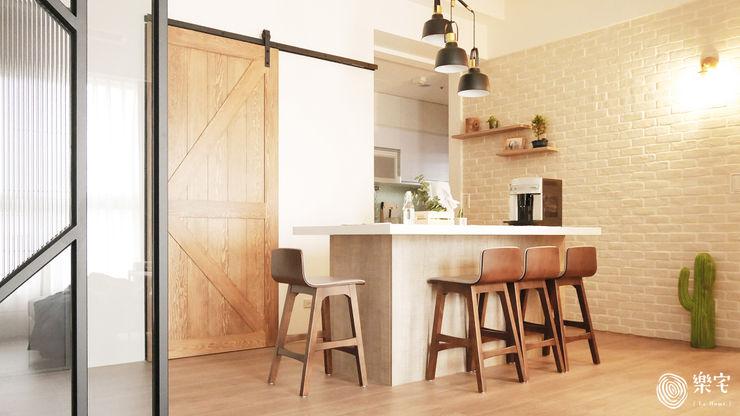 . 樂宅設計 系統傢俱 Eclectic style dining room