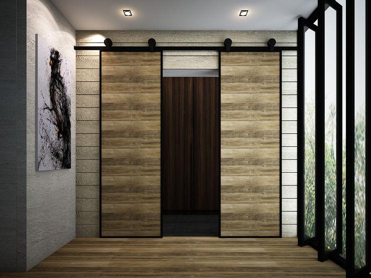 Zero field design studio Industrial style doors