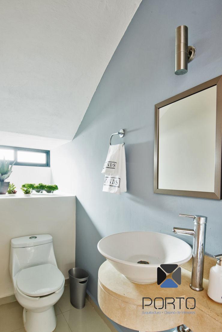 PORTO Arquitectura + Diseño de Interiores 現代浴室設計點子、靈感&圖片