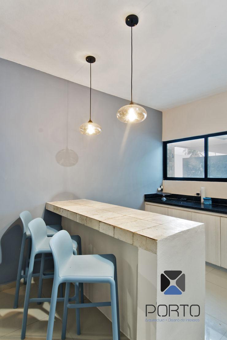 PORTO Arquitectura + Diseño de Interiores 現代廚房設計點子、靈感&圖片