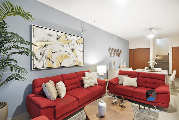 PORTO Arquitectura + Diseño de Interiores 现代客厅設計點子、靈感 & 圖片