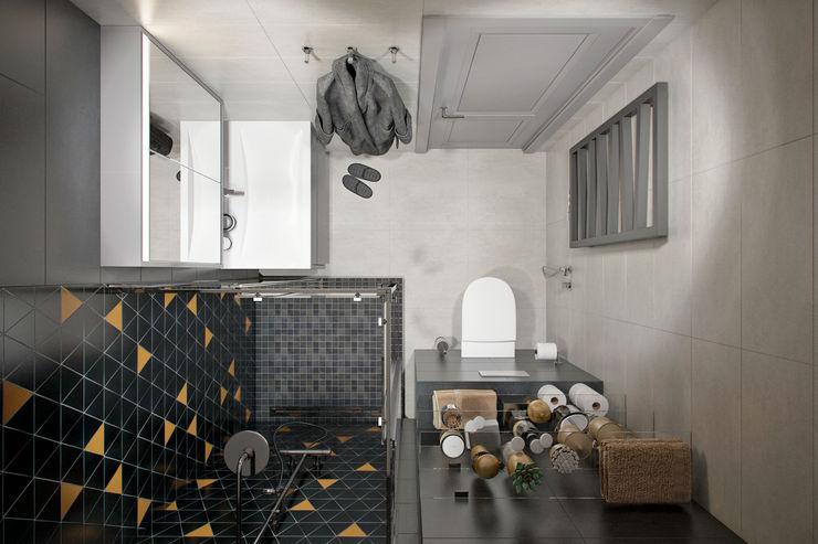 Квартира 60 кв.м. в современном стиле ЖК Ясный Студия архитектуры и дизайна Дарьи Ельниковой Ванная комната в эклектичном стиле