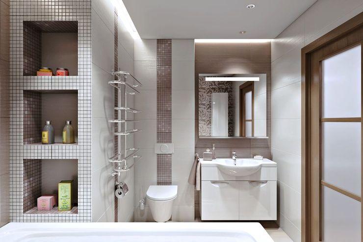 РАДУГА ЭМОЦИЙ Дизайн студия Алёны Чекалиной Ванная комната в эклектичном стиле