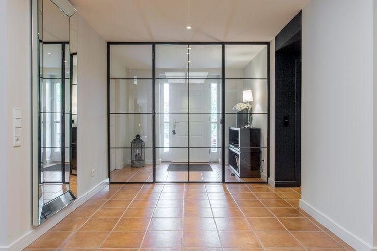 industrielles Trennwandelement Ohlde Interior Design Industrialer Flur, Diele & Treppenhaus