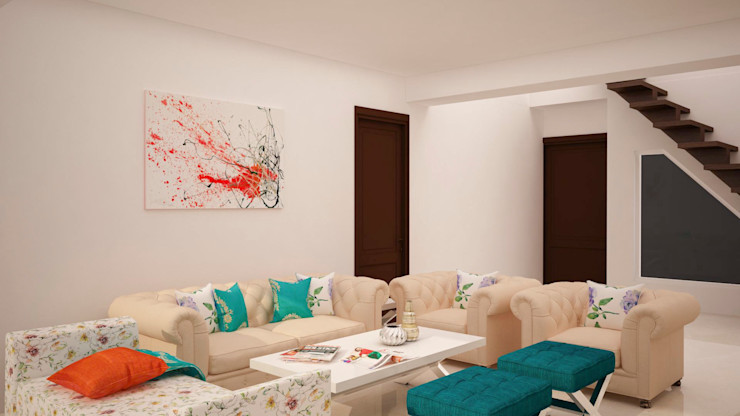 Living seating area homify Modern living room