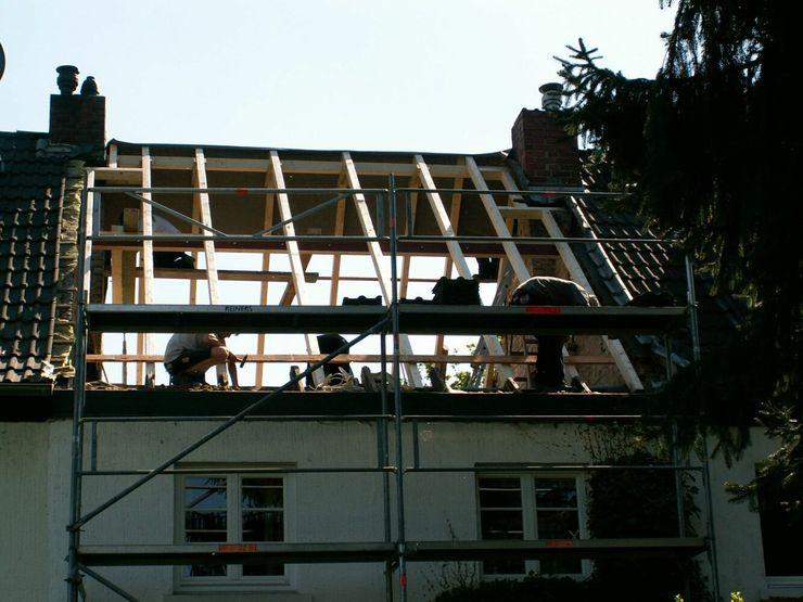 Bauphase Dachgeschossneubau schüller.innenarchitektur