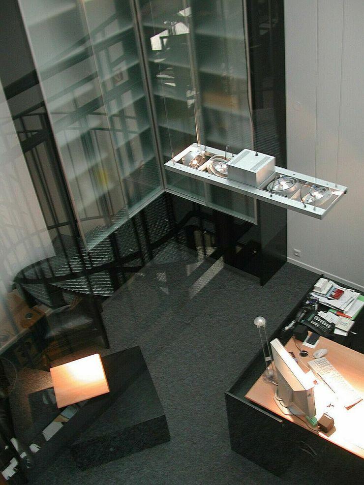 Werbeagentur, Köln schüller.innenarchitektur Moderne Bürogebäude Holz Schwarz