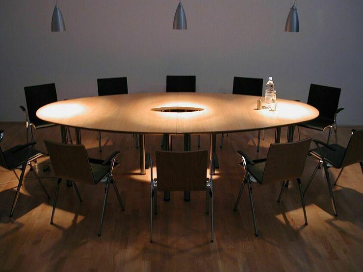 Werbeagentur,Köln schüller.innenarchitektur Moderne Bürogebäude Holz Beige