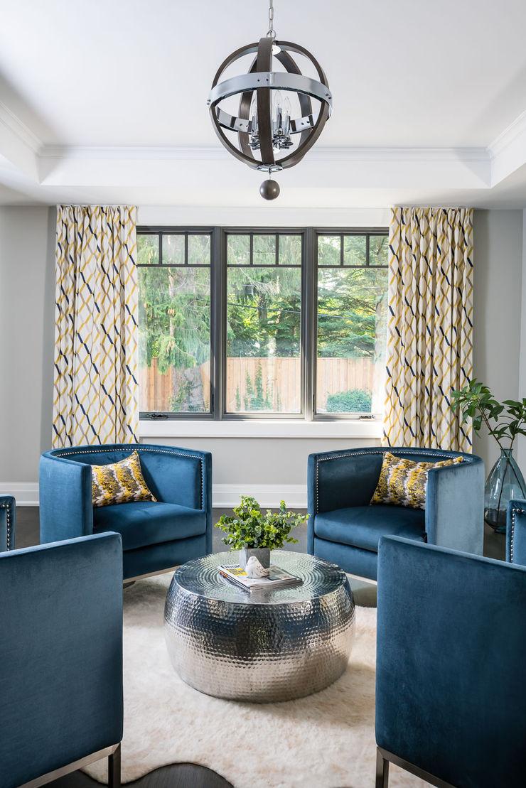 Sitting room Frahm Interiors Modern Living Room Grey