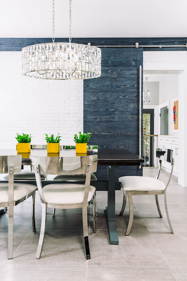 Eclectic dining Frahm Interiors Modern Dining Room Grey