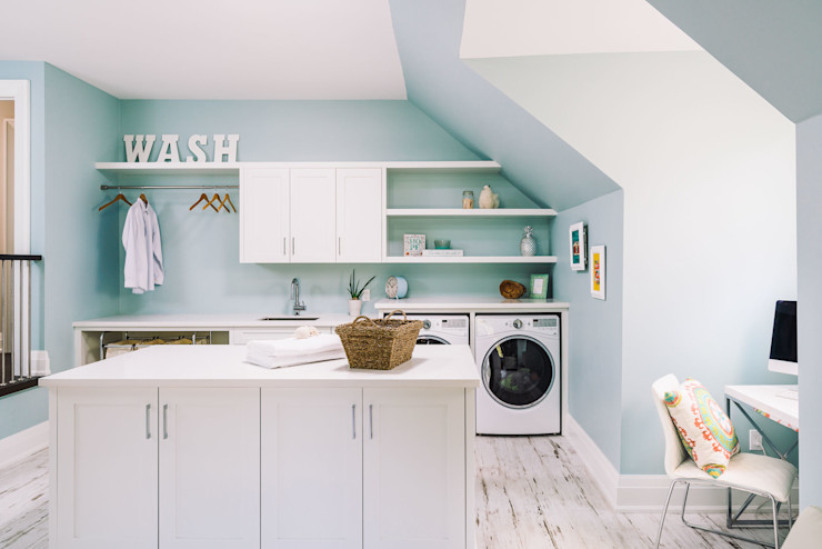 Laundry Room Frahm Interiors Modern Corridor, Hallway and Staircase