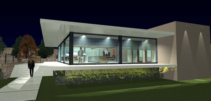grupo ME Arquitectos Modern study/office