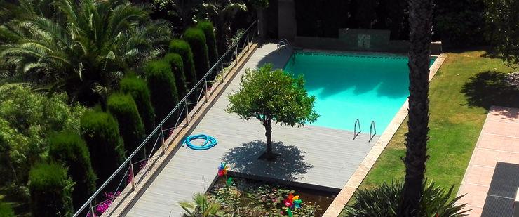 Tarima exterior sintética Barcelona - Sarrià ecojardí Piscinas de jardín Compuestos de madera y plástico Gris