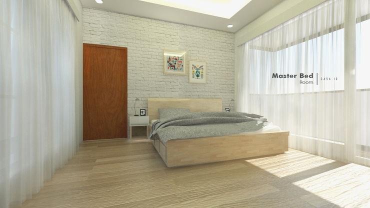 Master Bedroom CASA.ID ARCHITECTS Kamar Tidur Gaya Rustic