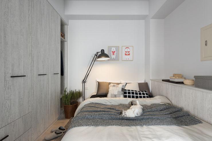 寓子設計 Skandinavische Schlafzimmer