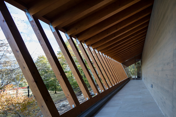 Mアーキテクツ|高級邸宅 豪邸 注文住宅 別荘建築 LUXURY HOUSES | M-architects Modern corridor, hallway & stairs Wood Wood effect