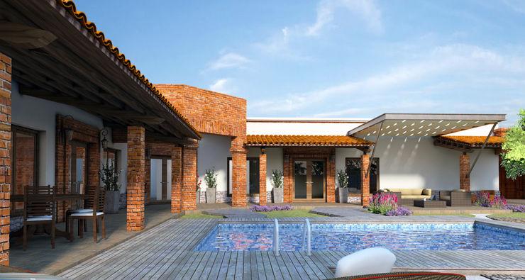 Acrópolis Arquitectura Country house Bricks Wood effect