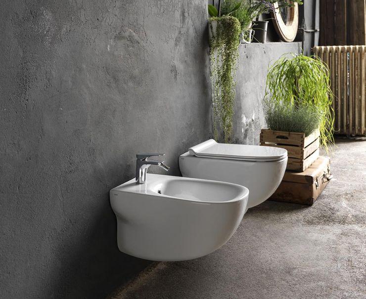 Wild Smile Bath S.A. Casas de banho modernas Cerâmica Branco