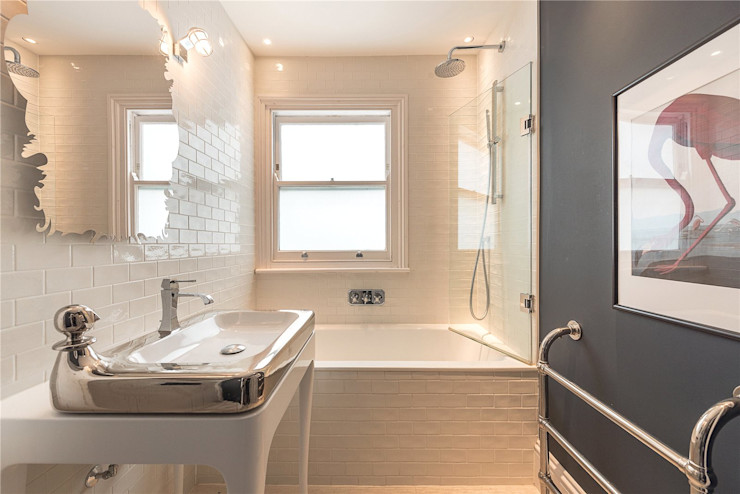 House renovation and House Extension project Cornwall Grove W4 House Renovation London Ltd Modern bathroom