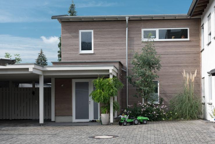 Anbau Vorne Grotegut Architekten Einfamilienhaus Holz