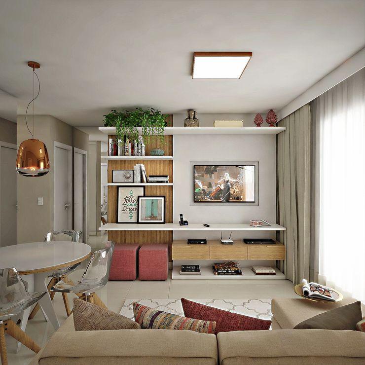 Sala de Estar/Jantar homify Salas de estar modernas
