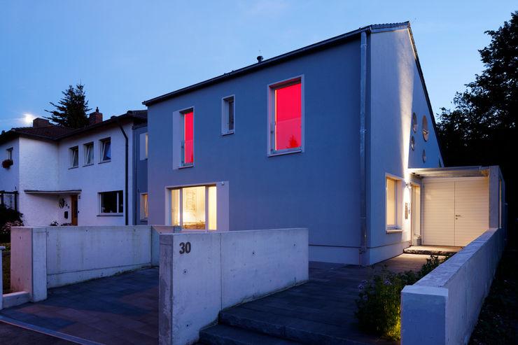 In Abendstimmung Grotegut Architekten Einfamilienhaus Grau