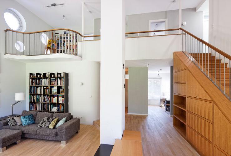 Galerie Grotegut Architekten Moderne Wohnzimmer Holz Weiß