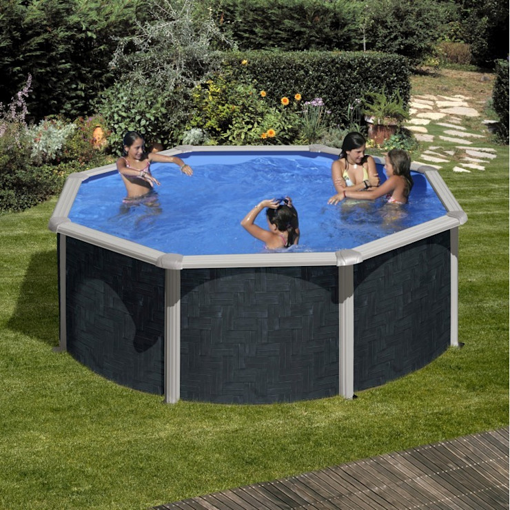 PiscineFuori-Terra.com Pool Eisen/Stahl Grau