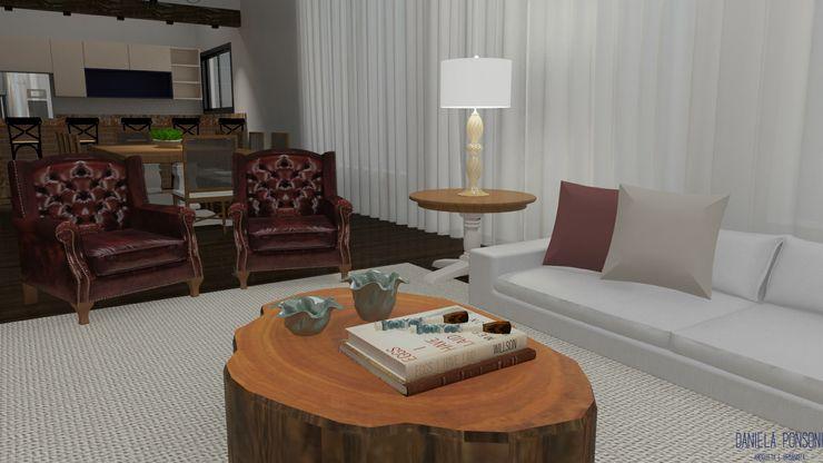 Sala de estar Daniela Ponsoni Arquitetura Salas de estar clássicas