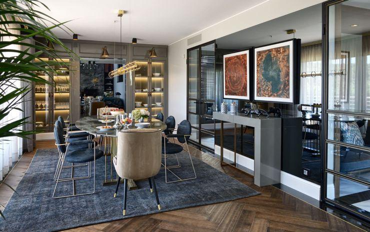 ABA HOUSE Esra Kazmirci Mimarlik Modern living room Marble Grey