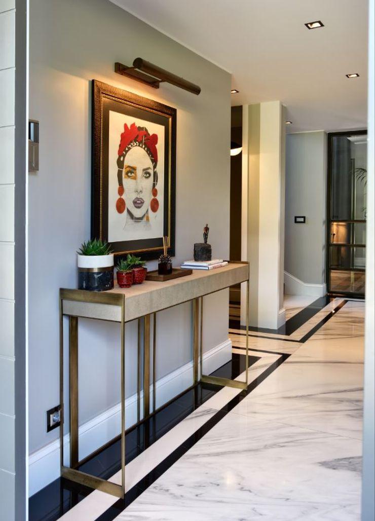 ABA HOUSE Esra Kazmirci Mimarlik Modern corridor, hallway & stairs White