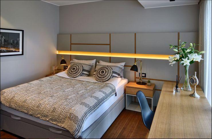ABA HOUSE Esra Kazmirci Mimarlik Modern style bedroom MDF Grey