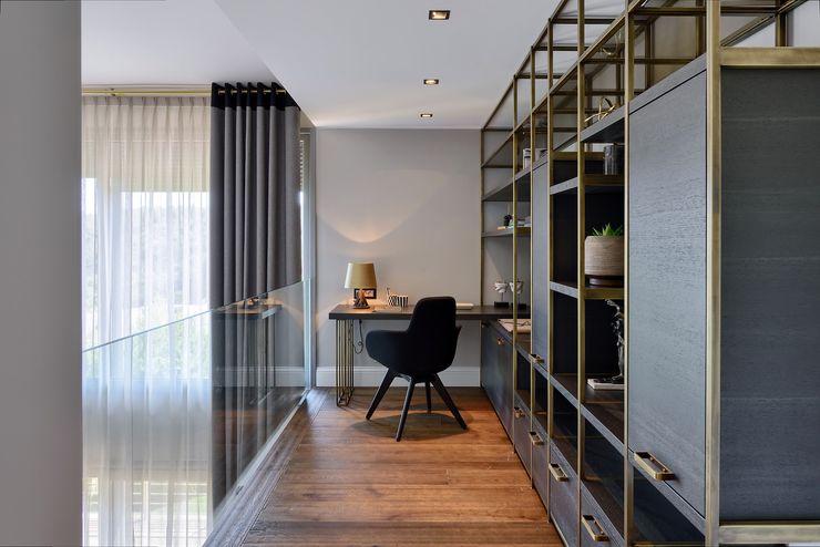 ABA HOUSE Esra Kazmirci Mimarlik Modern study/office Iron/Steel Grey